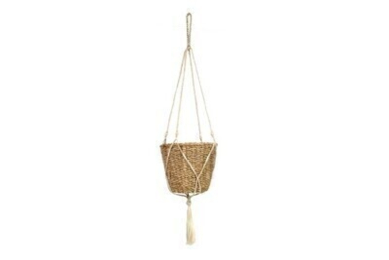 Gisela Graham Seagrass Hanging Basket: Booker Gifts