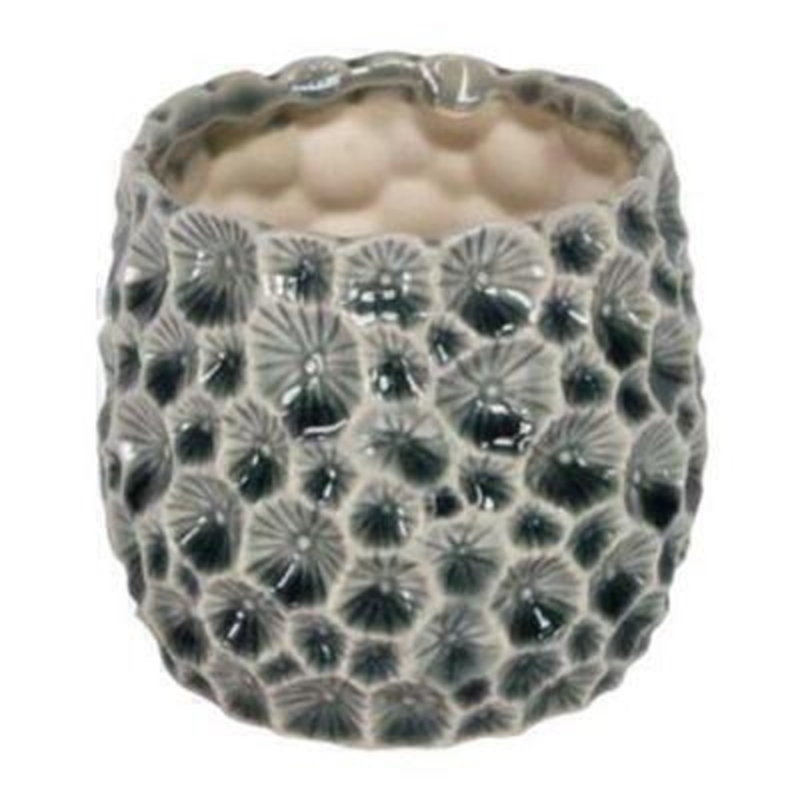 Glazed Ceramic Pot Cover - Small - by Gisela Graham: Booker Gifts