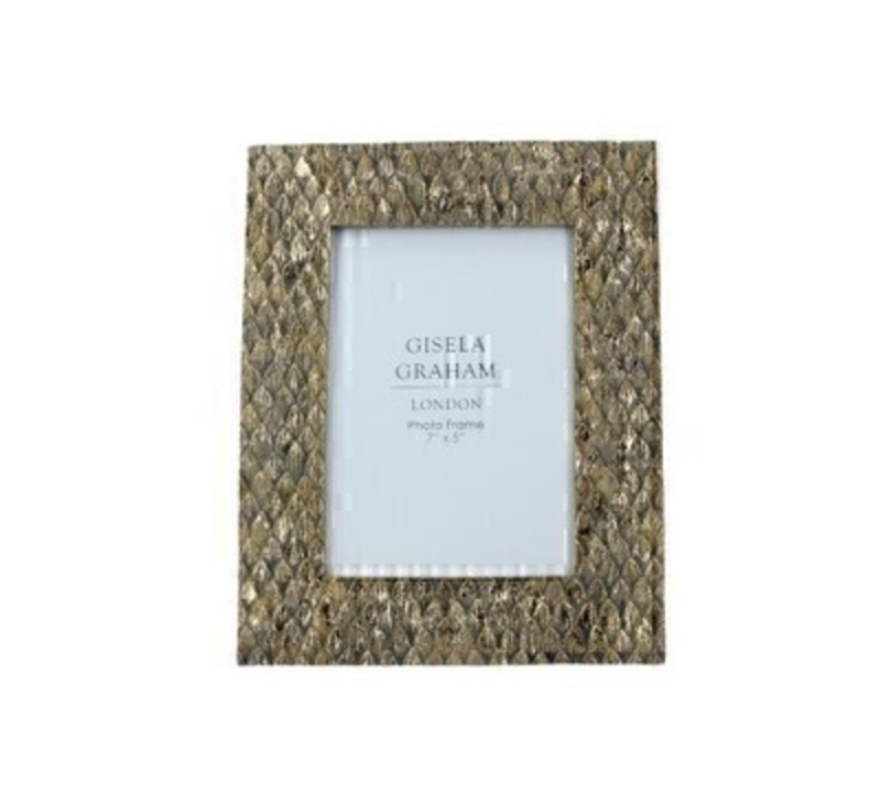 Gold Scaled Resin Picture Frame Large by Gisela Graham: Booker Gifts