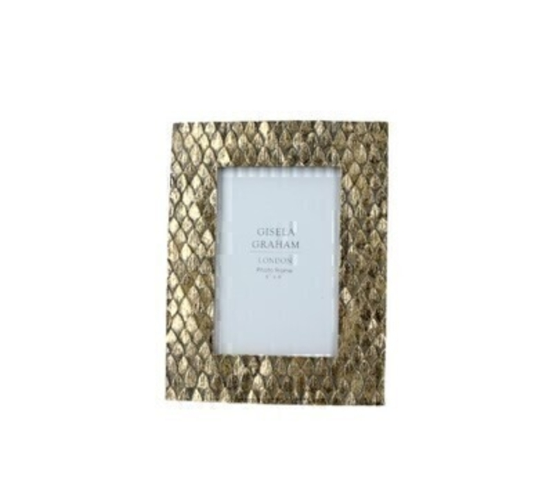 Gold Scaled Resin Picture Frame Medium by Gisela Graham: Booker Gifts