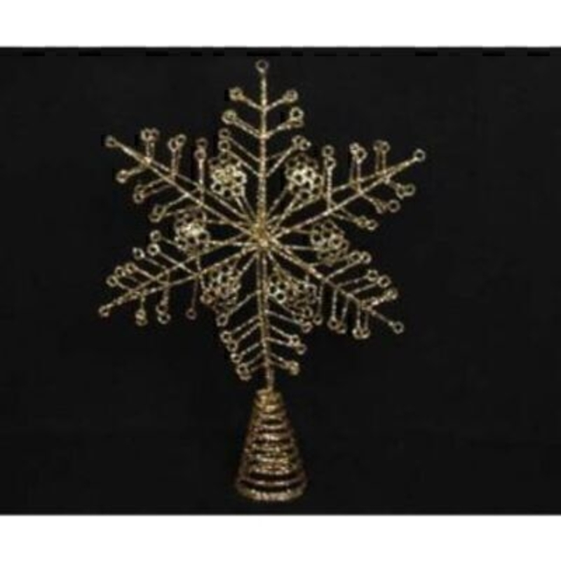 Gold Wire Snowflake Tree Topper by Gisela Graham: Booker Gifts