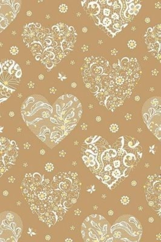 Gold and White Heart Roll Wrap Seline by Stewo. Perfect Wrapping paper for wedding. Quality Wrapping Paper. Hologram - 76 gsm. Size 70cm x 1.5m.