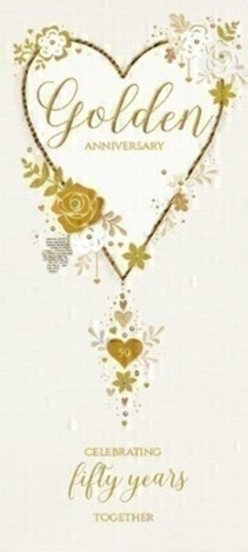 Golden Anniversary Greetings Card by Paper Rose: Booker Gifts