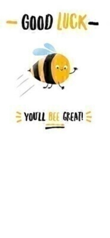 Good Luck Bee Great Card by Paper Rose: Booker Gifts