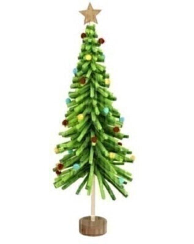 Green Christmas Tree Decoration by Gisela Graham: Booker Gifts