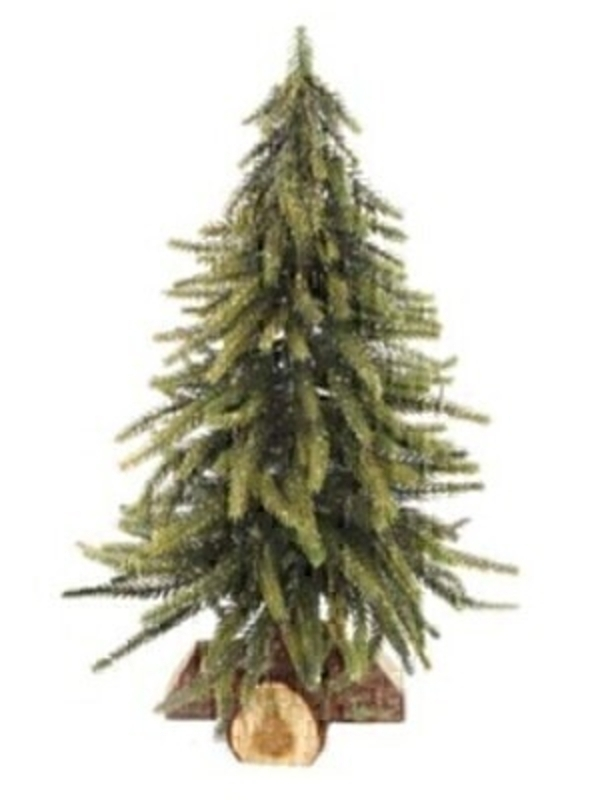 Green and Gold Glitter Christmas Tree by Gisela Graham: Booker Gifts