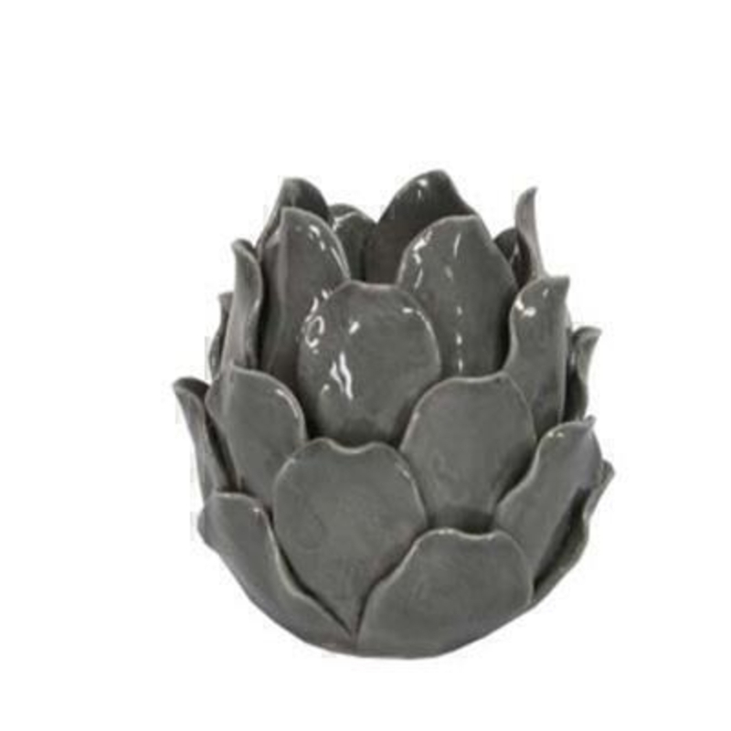 Grey Artichoke Tea Light Holder by Gisela Graham: Booker Gifts