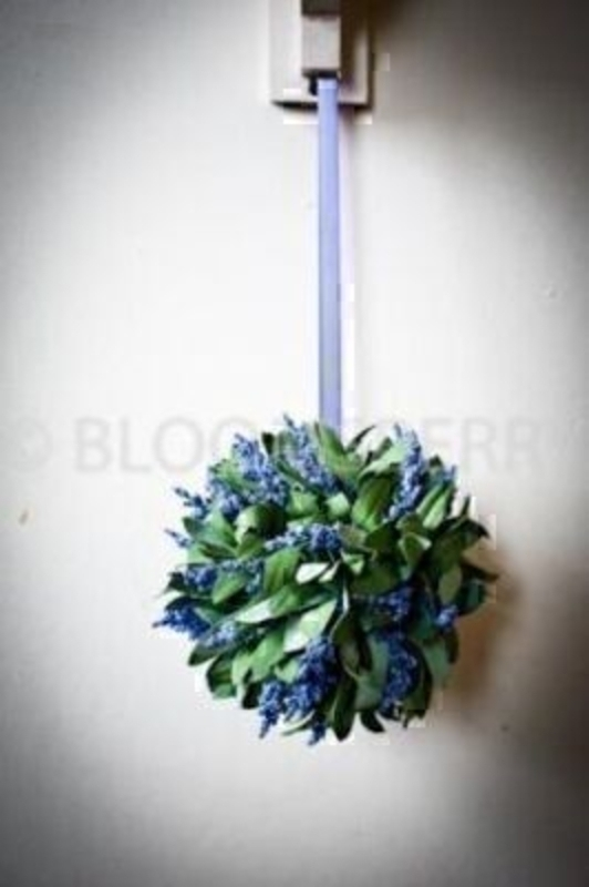 Hanging Ball French Lavender Silk Flowers: Booker Gifts