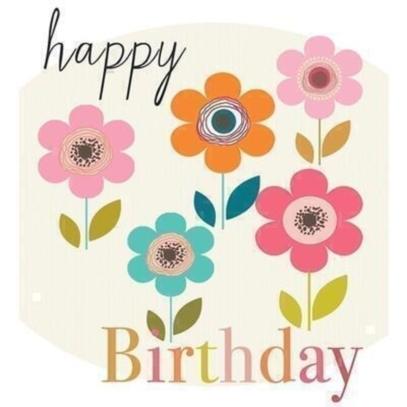 Happy Birthday Flowers card by Liz and Pip: Booker Gifts