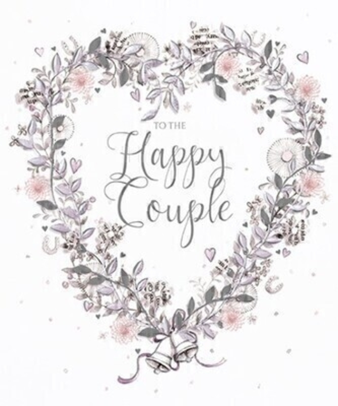 Happy Couple Wedding Card By Paper Rose: Booker Gifts