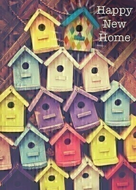 Happy New Home Bird House Card by Paper Rose: Booker Gifts