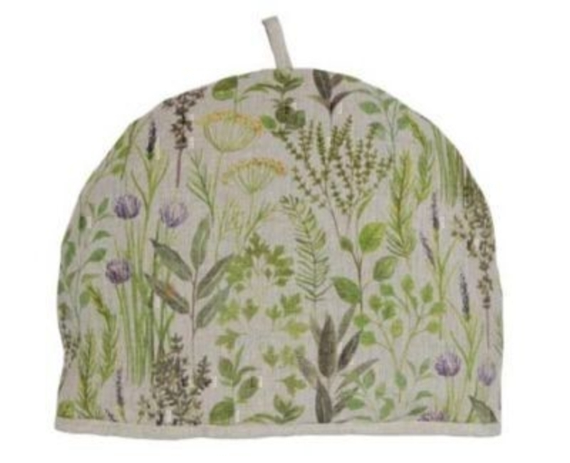 Herb Design Fabric Tea Cosy by Gisela Graham: Booker Gifts