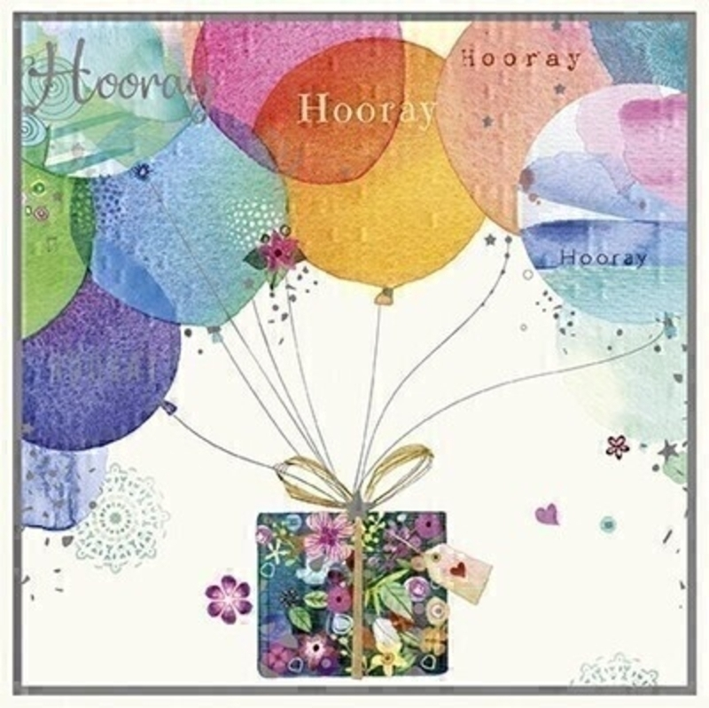 Hooray Balloons Birthday Card by Paper Rose: Booker Gifts