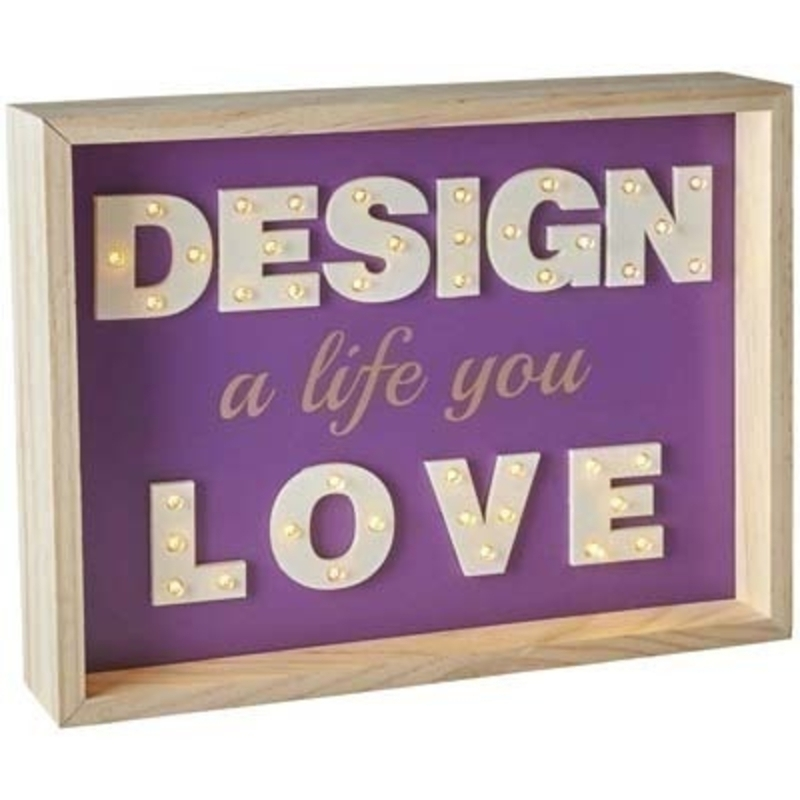 Illuminated Design a Life Sign by Transomnia: Booker Gifts