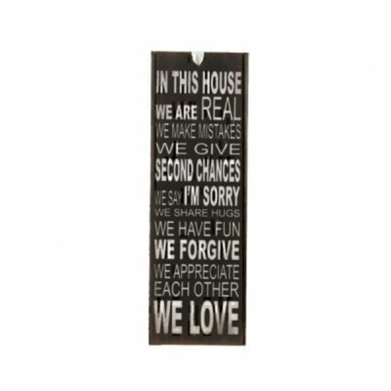 In This House Mini Metal Sign By Heaven Sends: Booker Gifts