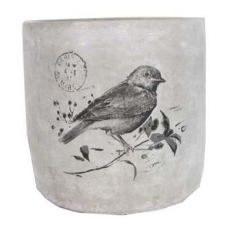 Large Bird Print Pot Cover by Gisela Graham: Booker Gifts