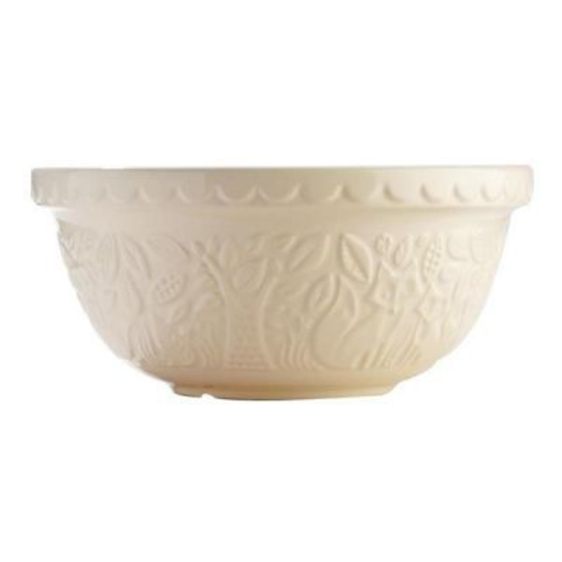 The Mason Cash S12 (29cm) Fox Cream Mixing Bowl is perfect for bread - cake - cookie - pastry and pudding mixes. Part of the Mason Cash In the Forest range this bowl is embossed with fox forest scenes inspired by folk tales of the mid-19th Century.  Microwa