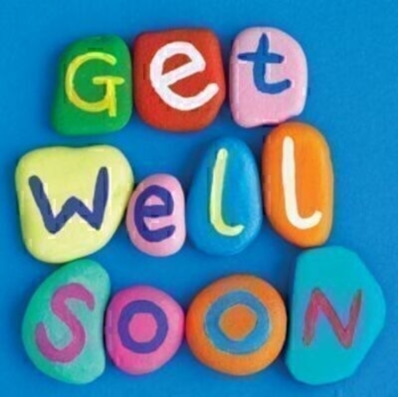 Large Get Well Soon Card Painted Stones by The Art Grou: Booker Gifts