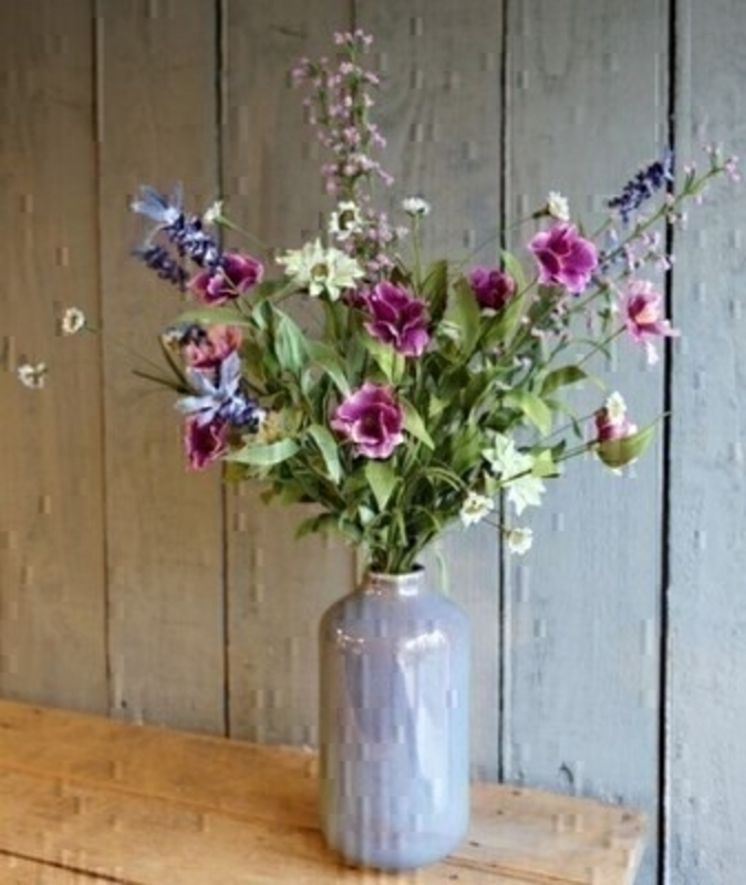 Lilac and pink artificial meadow flowers by Bloomsberry. *Vase not included*  These stunning silk flowers give the impression they have just been hand picked from a meadow especially for you. For realistic artificial and silk flowers Bloomsberry is second to none.