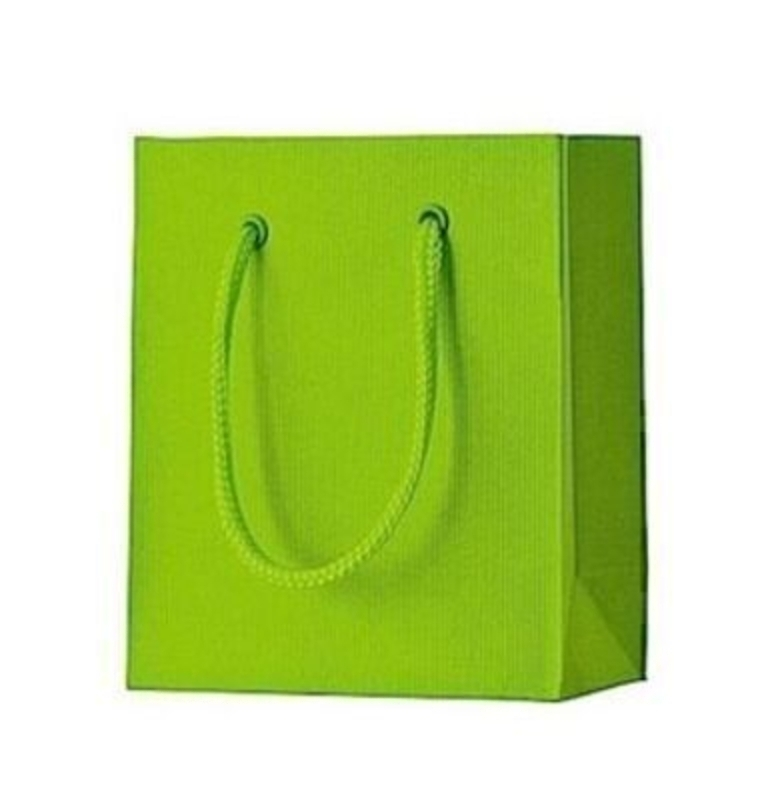 Lime Green Gift Bag - One colour Small Light Green Stewo: Booker Gifts