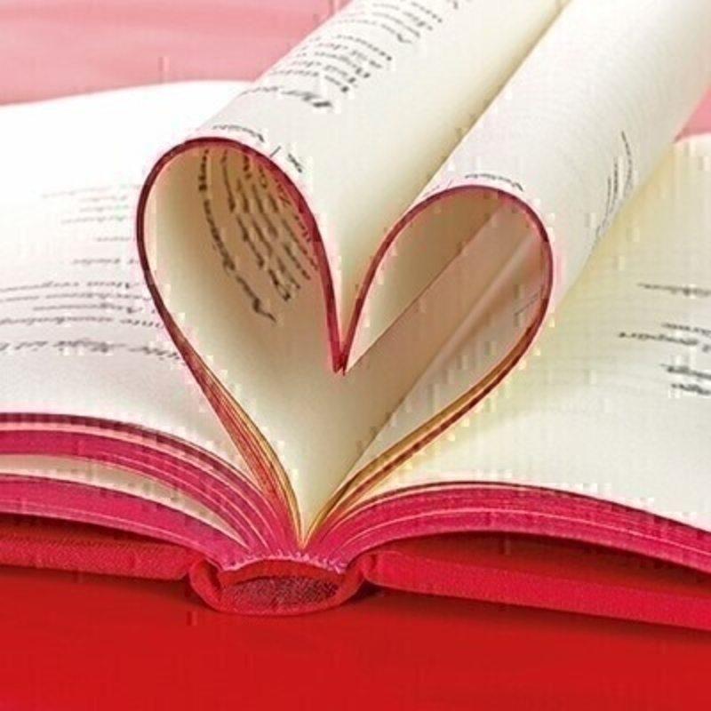 Love Heart Book Blank Greetings Card With Envelope: Booker Gifts