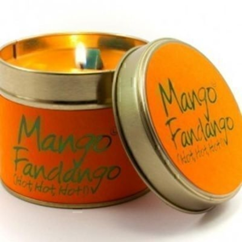 Let Lily Flame scented candles transport you to a different place. Mango Fandango; Hot! Hot! Hot! The worlds tangiest - most mango-ey candle. Just look at it. It's fantastic isn't it! Burn Time 35 hours. Dimensions 7.7 x 6.6cm