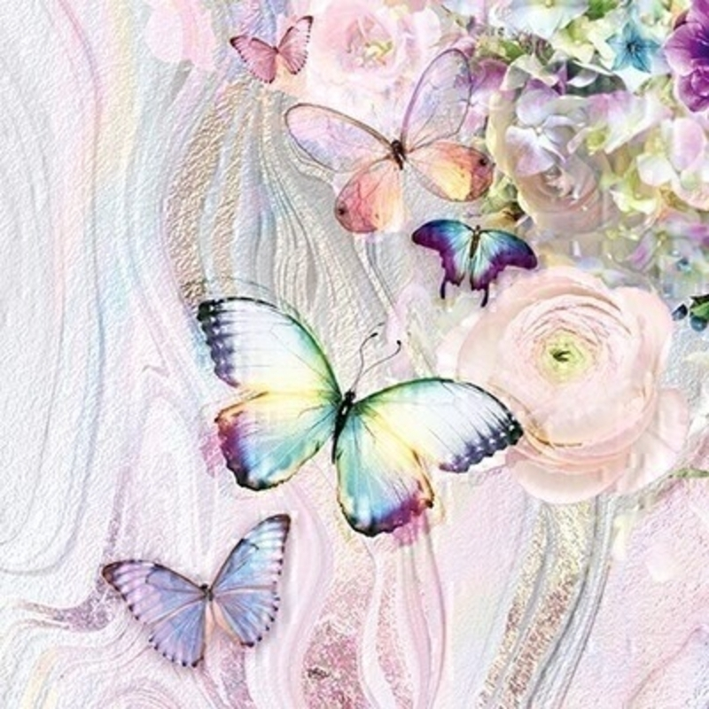 Marble Butterfly Dream Blank Greetings Card by Paper Rose: Booker Gifts