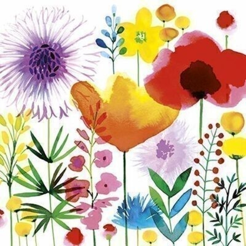 Meadow Flowers Blank Greetings Card by The Art Group: Booker Gifts