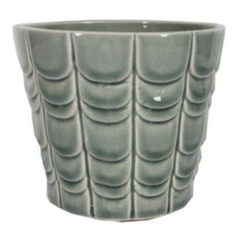Medium Green Scallop Pot Cover by Gisela Graham: Booker Gifts