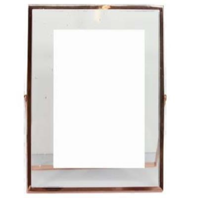 Medium Rose Gold Glass Picture Frame by Gisela Graham: Booker Gifts