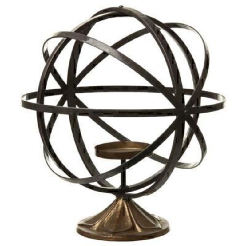 Metal Globe Style Candle Holder by Heaven Sends: Booker Gifts
