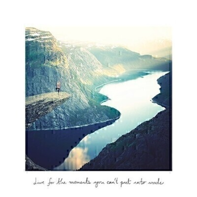 Moutains and Lake With Quote Blank Greetings Card by Paper Rose: Booker Gifts