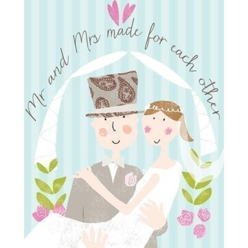 Mr and Mrs wedding card by Liz and Pip: Booker Gifts
