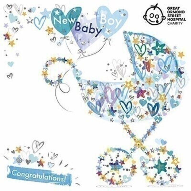 New Baby Boy Greetings Card by Paper Rose: Booker Gifts