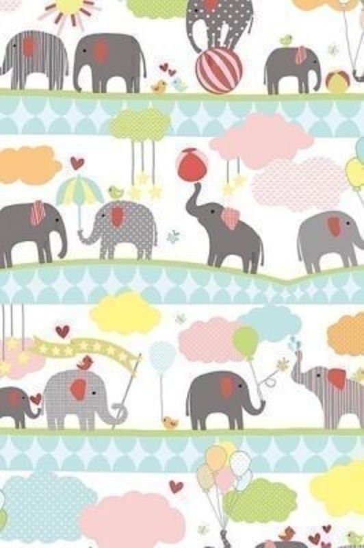 New Baby Elephants Roll Wrap Elvin by Stewo. This quality roll wrap by Stewo is printed on coated 80gsm paper. Size 70cm x 2m.