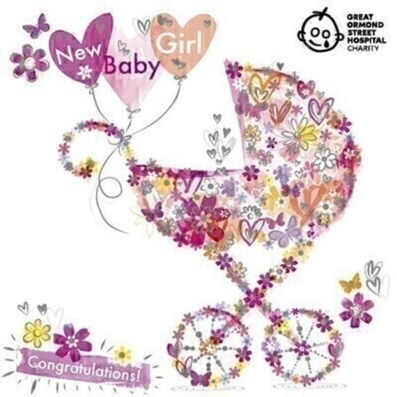 New Baby Girl Greetings Card by Paper Rose: Booker Gifts