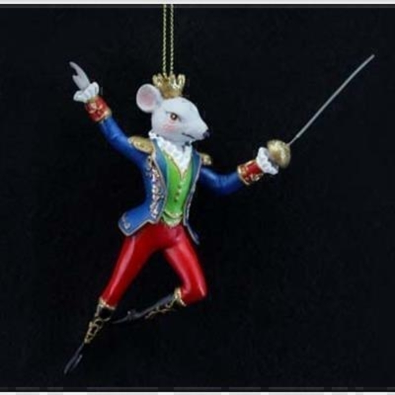 Nutcracker King Rat Tree Decoration by Gisela Graham: Booker Gifts