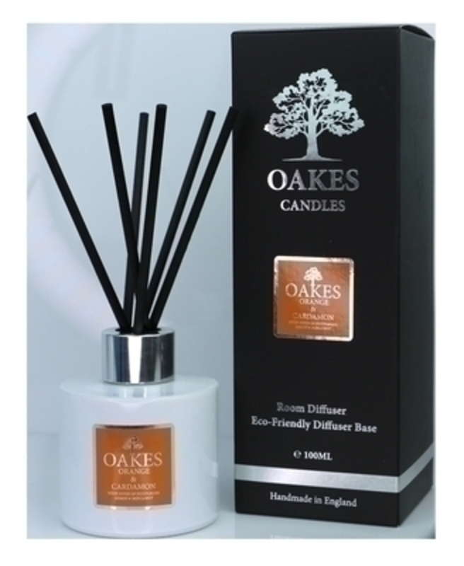 Oakes Orange and Cardamon Room Diffuser: Booker Gifts