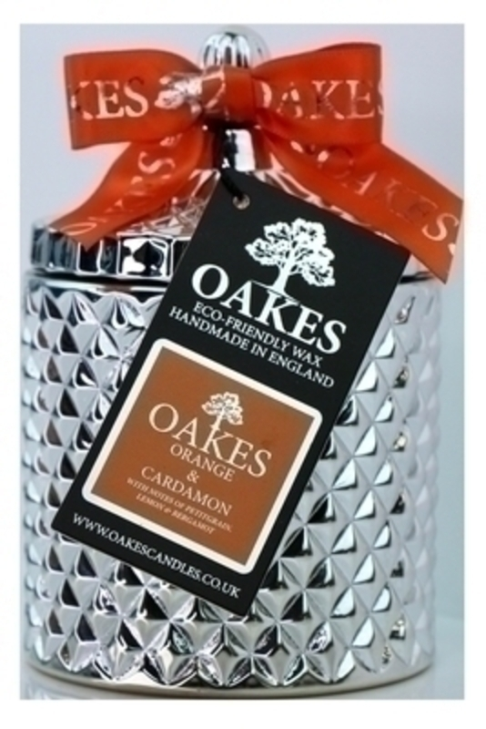 Oakes Orange and Cardamon Scented Soy Wax Candle in Jar: Booker Gifts