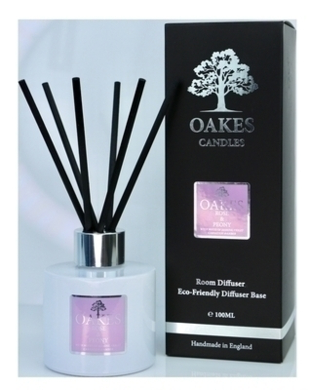 Oakes Rose and Peony Room Diffuser: Booker Gifts