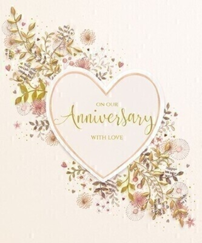 On Our Anniversary Greetings Card by Paper Rose: Booker Gifts