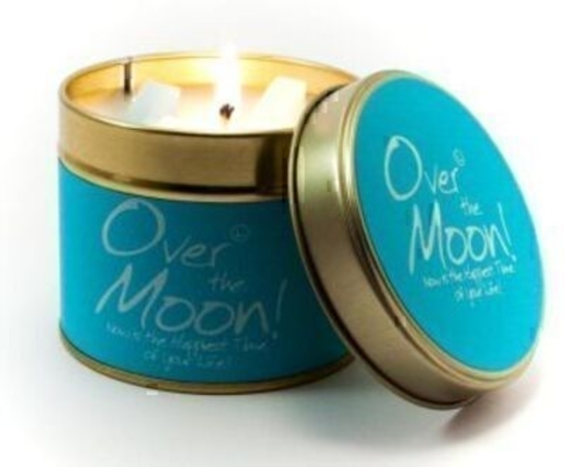 Let Lily Flame scented candles transport you to a different place. Over The Moon; Now is the Happiest Time of your Life! This is a Fresh and slightly spicy scent. Very spring like and uplifting with a label to compliment. Burn Time 35 hours. Dimensions 7.7