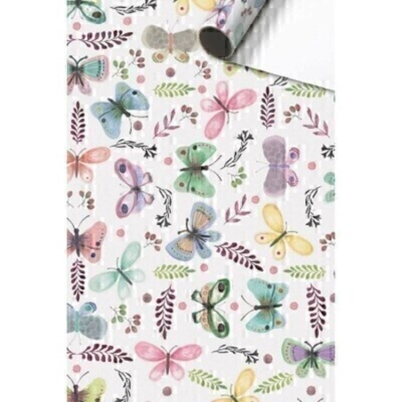 Pastel Butterfly Gift Wrap On Roll By Stewo: Booker Gifts