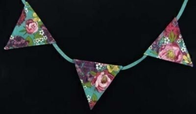 Peony Flowers Bunting By Gisela Graham: Booker Gifts