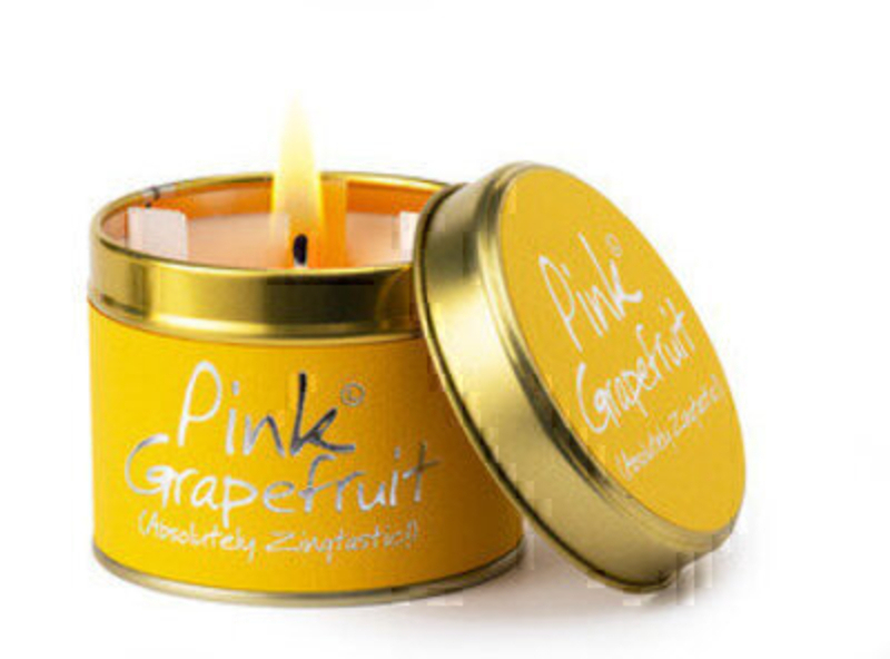 Pink Grapefruit - Zingtastic! A clean sophisticated zingy treat. Florida sunlight in candle form! Burn Time 30-35 hours.