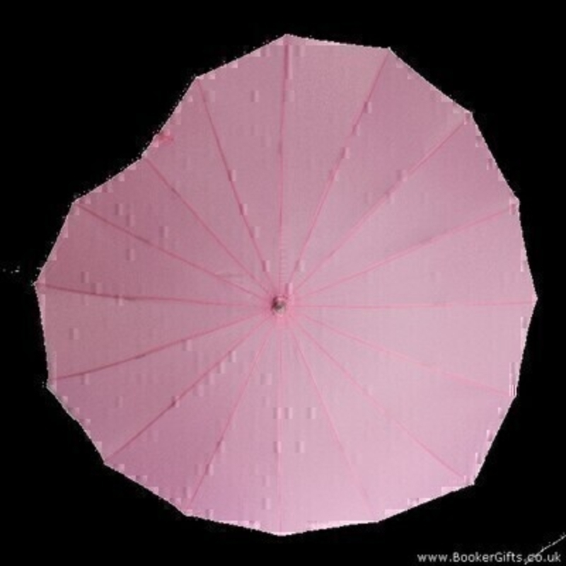 Pink Heart Umbrella Pink STICK by Boutique: Booker Gifts