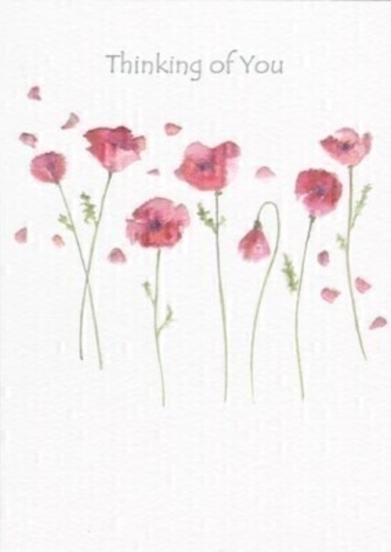 Poppies Thinking Of You Greetings Card by Paper Rose: Booker Gifts