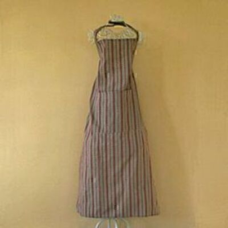 Red And Cream Striped Heart Apron: Booker Gifts