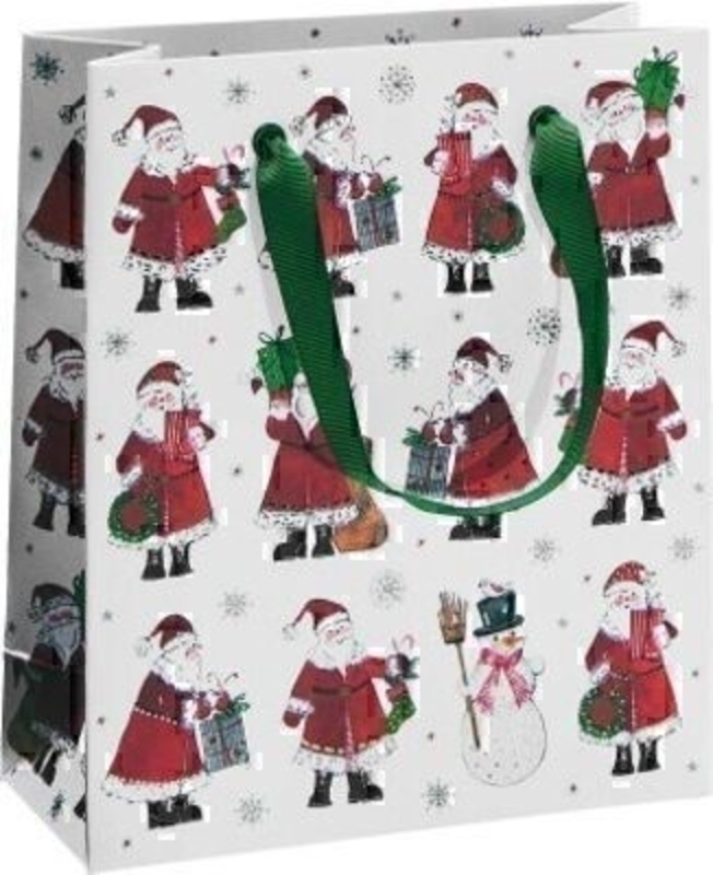 Red Santa Christmas Gift Bag Flurin by Stewo: Booker Gifts