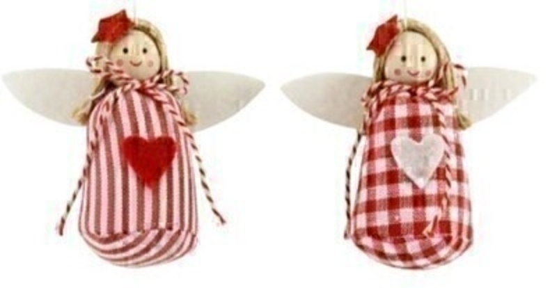 Red and White Fairy Christmas Tree Decoration by Gisela Graham: Booker Gifts